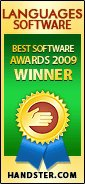 Handster Best Software Awards 2009